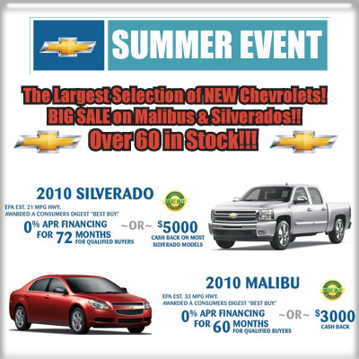 Chevy Summer Event at Charles Boyd of Henderson, NC